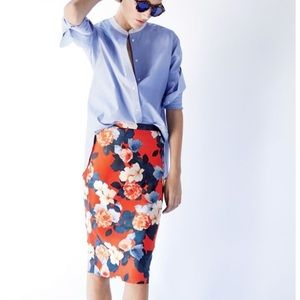 • J. Crew Collection • Pencil Skirt Graphic Peony